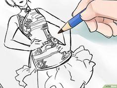 Come Disegnare un Figurino di Moda: 15 Passaggi Fashion Illustration Sketches, Landscape Illustration, Fashion Sketches, Illustrations, You Draw, How To Draw Hands, Sketch Poses, Drawing Techniques, Easy Drawings