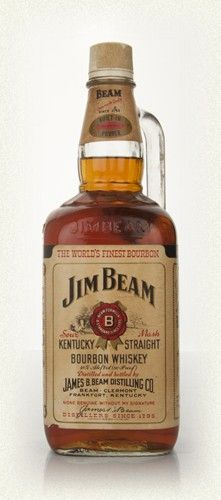 Beam White 4 1980s Bottling Note A huge 175cl bottle of Jim Beam White from the decade of double-breasted materialistic excess. It's got a jug handle! In fact it's almost as big as mobile phone from the same era