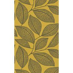 Papier peint Pebble Leaf MissPrint Boathouse Blue MISP1039  MissPrint