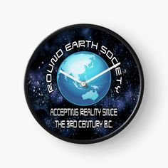 Round Earth, 3 Things, Wall Clocks, Colorful Backgrounds, I Shop, Art Prints, Humor, Printed, Awesome