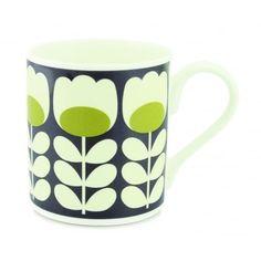 Orla Kiely Tulip Stem Green Mug
