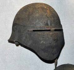 The US WW1 Model 8 Helmet. The Ford Motor Company manufactured a surprising 1,300 of these helmets. They apparently worked, but they messed with vision due to the narrow eyeslits.