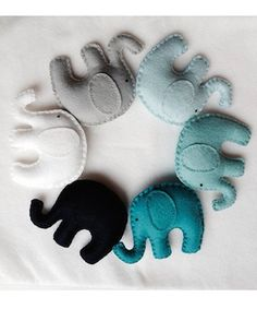 Ombré blues and teal elephant garland. Nursery, children's room Ombré blues and teal elephant garland Nursery, children's room … The post Ombré blues and teal elephant garland Nursery, children's room appeared first on Woman Casual - Kids and parenting Elephant Baby Rooms, Elephant Nursery Decor, Elephant Room Ideas, Deco Elephant, Elephant Mobile, Nursery Room, Baby Crafts, Felt Crafts, Kids Crafts
