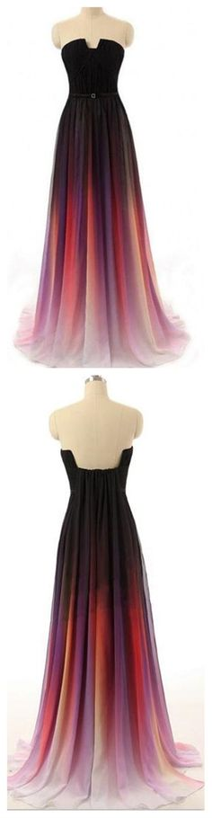 Fading Color Prom Dress Long, Prom Dresses,Graduation Party Dresses, Prom Dresses For Teens on Storenvy