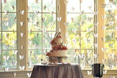 Gorgeous! Check out this wedding cake display from a wedding at Crosswater Hall in Nocatee!