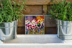 """Foto auf Holz, im Quadrat, 13x13 """"Tour de France"""" von BildArt auf DaWanda.com"""