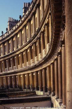 King's Circus, Bath, Somerset, England, architect John Wood the Elder. The Fashion Museum's Fashion Research Center is in one of these buildings.