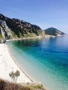 Spiaggia di Sansone in Portoferraio, Toscana