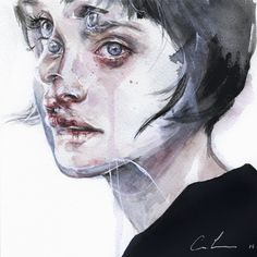 Gorgeous Watercolor Portrait Paintings by Agnes Cecile  #RePin by AT Social Media Marketing - Pinterest Marketing Specialists ATSocialMedia.co.uk