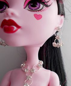 Doll Jewelry 17 inch Monster Doll Crystal Clear by CuteWeirdFluffy