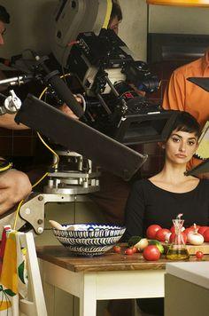Penelope Cruz on the set of Pedro Almodovar's 'Broken Embraces'