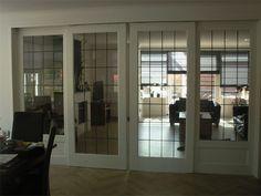 En-suite deuren glas in lood