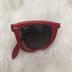 Rare Red RayBans Will need repaired! STILL RARE EASY FIXABLE DISCOUNTED!! Ray-Ban Accessories Sunglasses