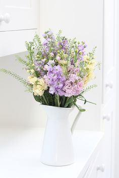 Fragrant pastel stocks with delicate green bell foliage make the perfect combination for spring blooms. Shop our bouquets for next day delivery straight through the letterbox. Prices start at £20.