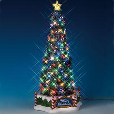 Lemax New Majestic Christmas Tree Village Figurine by Lemax at Fleet Farm Christmas Tree Light Up, Christmas Tree Village, Christmas Tree With Gifts, Christmas Store, Christmas Villages, Christmas Items, Christmas Elf, Xmas Tree, Christmas Ornaments