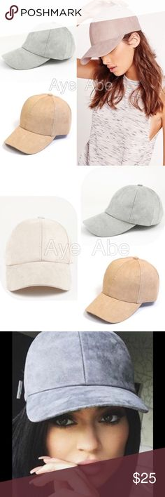 New CASUAL FAUX SUEDE BASEBALL CAP New CASUAL FAUX SUEDE BASEBALL CAP