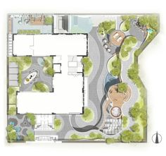 Sales Center, Design Language, Landscape Plans, Contemporary Landscape, Floor Plans, Diagram, How To Plan, Frame, Projects