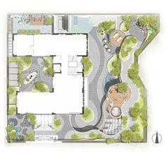 Design Language, Landscape Plans, Contemporary Landscape, Diagram, Floor Plans, Map, How To Plan, Frame, Projects