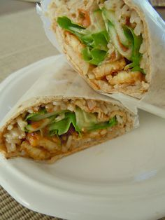 Sweet 'n Spicy Coconut Wrap with tempeh. I used chard for the wrap and added some sweet chili sauce, SO GOOD.