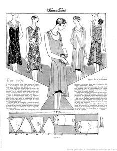 Robe de casino (La Femme de France 15/07/1928)