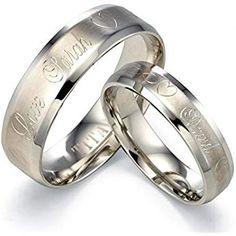 Son toujours//Her Forever Couple Anneau Titane Acier De mariage Bagues de fiançailles bon marché