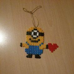 Minion in Love hama beads by annina_inwonderland