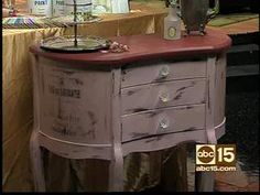 How to use Annie Sloan Chalk Paint to alter furniture, frames, cabinets using different techniques. Start by painting any surface in Annie Sloan Chalk Paint Brand Decorative Paint. Remember you don't have to sand, strip or remove previous paint when you use this revolutionary paint system! Dry. If distressing, paint with a second color and let dry. ... Transfer a vintage graphic to your piece for added character. Seal with Annie Sloan Soft Wax for a beautiful soft glow, wipe off excess…