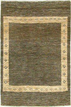 Brown 3' 9 x 5' 7 Kashkuli Gabbeh Rug | Persian Rugs | eSaleRugs