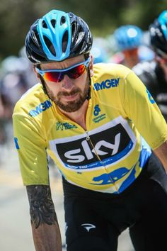 Tour of California 2014 - Stage 3 - Bradley Wiggins (Sky) at the front of the bunch