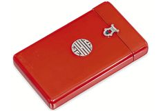 Vintage Red Cigarette Case wtih Diamonds