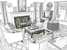 apps where you can transform a photo into a drawing.  -- How about a picture of your house?