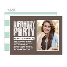 Party Hardy Custom Personalized Birthday Invitations Make Tiny Prints