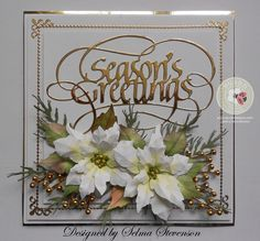 Susan's Garden Notes Poinsettia's help you create beautiful Christmas cards! I have shown you these poinsettias in red and non-trad...