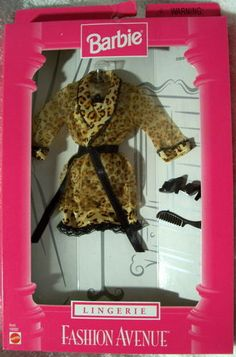 Fashion Avenue Barbie 1998 22929 Lingerie Animal Print NFRB | eBay