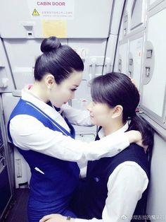 Beautiful Asian Girls, Beautiful Women, Air Goddess, Airline Uniforms, Lesbians Kissing, Girls Uniforms, Cabin Crew, Flight Attendant, Asian Beauty