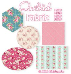 """The embroidery machine is doing the quilting work: With the file """"Quilted Fabrics"""" you can quilt squares, rectangles, circles, ovals and hexagons in perfect patterns. Go and clamp your batting and create your own quilt fabric. And to make it not easy for you you can chose from 4 different sizes."""