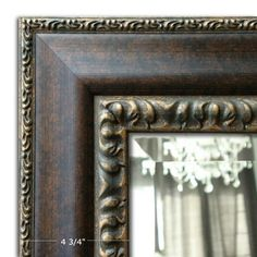 """West Frames Montreal Distressed Black and Gold Picture Frame 2.25/"""""""