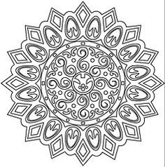 Mandala vector. love things like this for coloring.