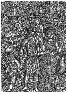 Lord Shiva Hd Images, Complex Art, Lord Ganesha Paintings, Esoteric Art, Shiva Wallpaper, Tanjore Painting, Art Folder, Shiva Shakti, Hindu Deities