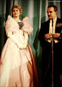 Princess Grace, wearing her gorgeous Maggy Rouff gown, with Prince Rainier at Imperial Ball 1958 NYC