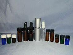 Glass Bottles Containers Use w Young Living Essential Oils Choice Listing | eBay