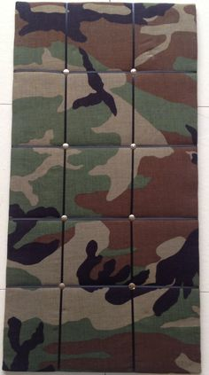 Camouflage Army Memo/Picture Board 12 x 24 by EllaTaylorBoutique, $7.00--- this will make a great gift for the special boy or girl in your life!