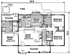 rectangle single level house plans first floor plan of ranch house plan 98889