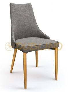 DL MADRID S - Fa lábas kárpitos szék.