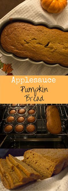 Pumpkin bread made a little healthier with applesauce instead of oil! The…