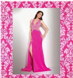 Modest Sheath / Column V-neck Floor-length Elastic Woven Satin Pink Prom Dresses Prom Dresses Jovani, V Neck Prom Dresses, Pink Prom Dresses, Cheap Prom Dresses, Event Dresses, Homecoming Dresses, Bridesmaid Dresses, Dress Prom, Dresses Dresses
