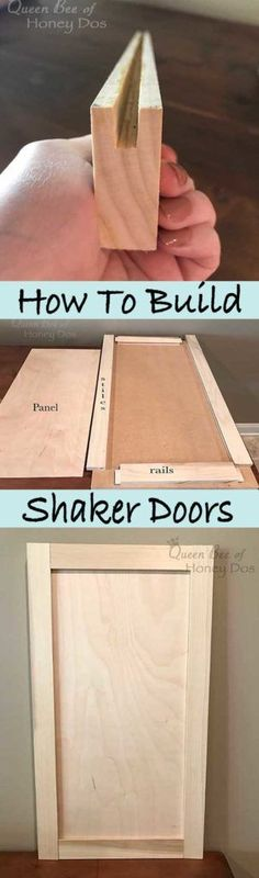Ted's Woodworking Plans - How to Build Shaker Doors - Get A Lifetime Of Project Ideas & Inspiration! Step By Step Woodworking Plans Woodworking Projects Diy, Woodworking Jigs, Woodworking Furniture, Diy Wood Projects, Furniture Projects, Wood Crafts, Furniture Plans, Kids Furniture, Router Projects