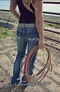 Cowgirl Tuff Dont Fence Me In Jeans