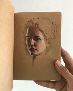 Life means nothing without gouache!  #sketchbook #study #portraitpainting #gouachepainting #evagreen