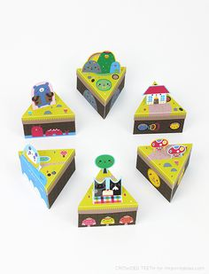 Paper Island // paper toy + favor box / free templates, created by Crowded Teeth for Mr Printables Crafts To Do, Diy Craft Projects, Projects For Kids, Diy For Kids, Crafts For Kids, Diy Crafts, Kids Fun, Mr Printables, Printable Crafts